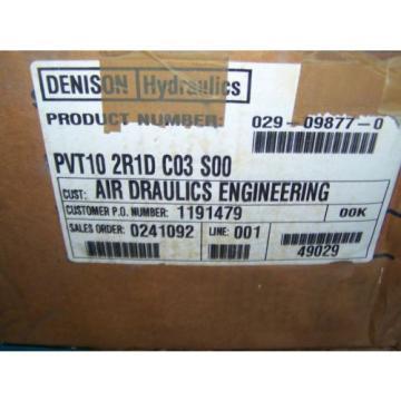 NOS DENISON HYDRAULICS PVT10 2R1D C03 S00 PISTON PUMP PVT102R1DC03S00