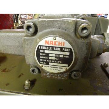 Nachi 2 HP Hydraulic Unit, Nachi Vane Pump VDR-1B-1A2-U21, Used, Warranty