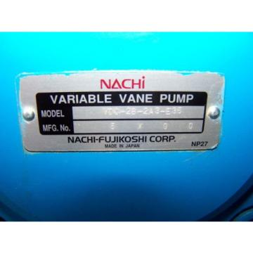 Nachi Variable Vane Pump Hydraulic Unit VDC-2B-2A3-E35 Leeson 5 HP 230/460V