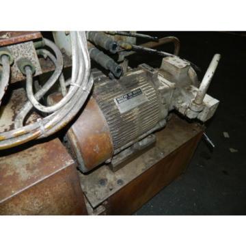 Showa / Nachi 3 HP Hydraulic Unit, PVU-40-0403-HX196 w/ UVD-2A-A2-22-4-1697A