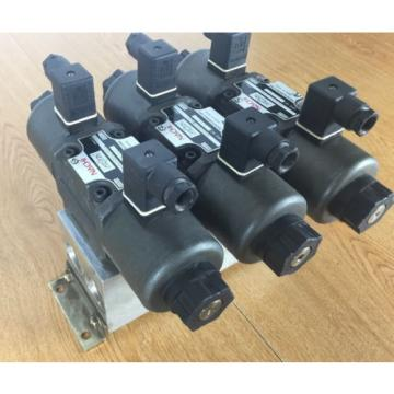 Lot of 3 Nachi SA-G03-C6-D1- E21 Hydraulic Valve with Double Solenoid