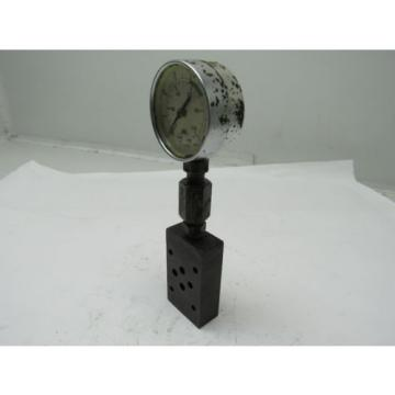Nachi OK-G01-PT-11 Relief Modular Valve Hydraulic w/Gauge 1000PSI