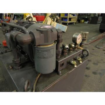 Nachi 3 HP 22kW Complete Hyd Unit w/ Tank,# S-3382-6, PVS-1B-19N1-2408B Used