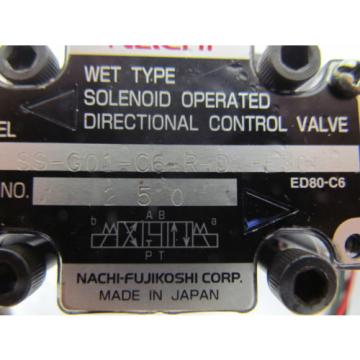 Nachi SS-G01-C6-R-D2-E30 Hydraulic solenoid directional control valve wet type