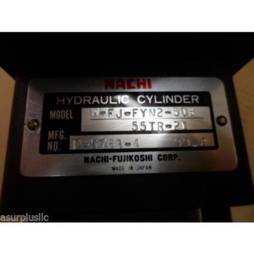 NACHI HYDRAULIC CYLINDER W-FJ-FYN2-50B-55TR-21  50mm BORE 55mm STROKE  NOS