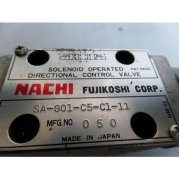 NACHI CONTROL VALVE SA-G01-C5-C1-11 W/HYDRAULIC EQUIPMENT OG-GO1-PC-K-5749A mona