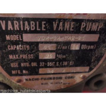 Nachi Variable Vane Pump  VDR-1A-1A2-21_ VDR1A1A221 Hydraulic