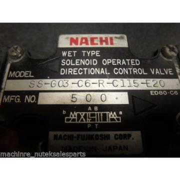 NACHI DIRECTIONAL CONTROL VAVLE_SS-G03-C6-R-C115-E20_SSG03C6RC115E20