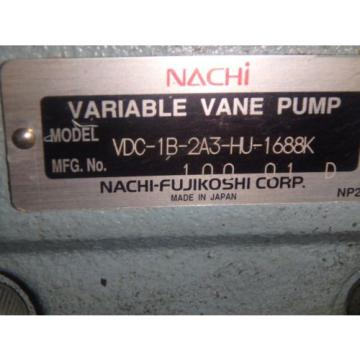 NACHI VARIABLE VANE PUMP WITH MOTOR_VDC-1B-2A3-HU-1688K_131231