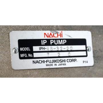 Origin NACHI FUJIKOSHI CORP IPH-48-32-20 IP PUMP IPH483220