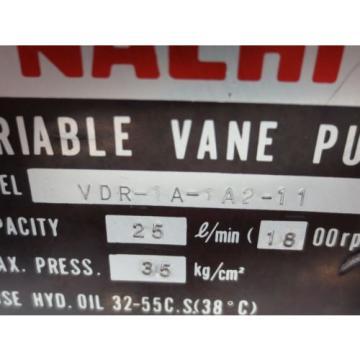 NACHI VARIABLE VANE PUMP VDR-1A-1A2-11