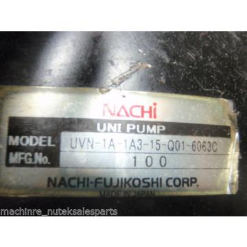 Nachi Pump UVN-1A-1A3-15-4-Q01-6063C  UVN1A1A3154Q6063C_4P-15kW_TWF4817YF