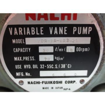NACHI VARIABLE VANE PUMP VDR-1A-1A3-21