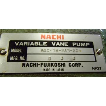 Nachi-Fujikoshi Variable Vane Pump VDC-1B-2A3-20_VDC1B2A320_Motor AEEFPP 2HP 3PH