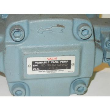 NACHI VDC-11B-1A3-1A3-U-20 Origin VARIABLE VANE PUMP VDC11B1A31A3U20