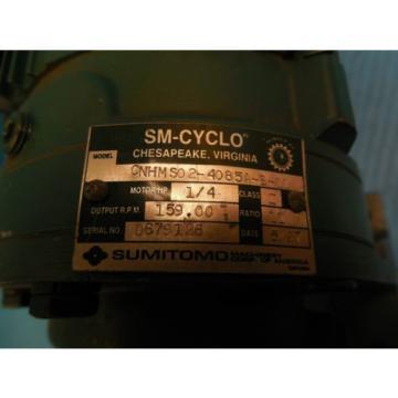 SUMITOMO CNHM S0 2 4085A B 11 AC GEAR MOTOR INDUSTRIAL TRANSMISSIONS