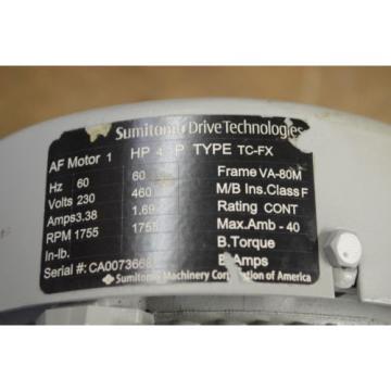 Sumitomo Gear Motor CNHMS1 6120YC-59 1 HP 297 RPM