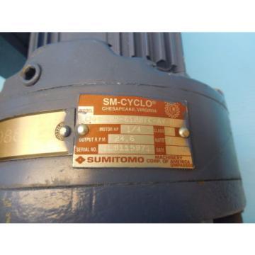 SUMITOMO TC FXWFB 05 AC GEAR AF MOTOR 1/4 HP SPEED REDUCER GEAR BOX