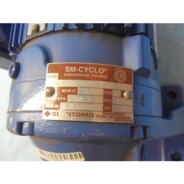 SUMITOMO CNHMS01 6065A 29 AC GEAR MOTOR 1/8 HP MADE IN USA MOTORS