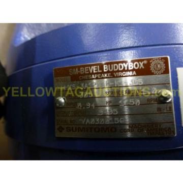 SUMITOMO SM-BEVEL BUDDYBOX GEAR REDUCER LHHXS-3A125LK-K1-305 094 HP Origin $699