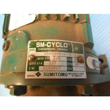 SM CYCLO SUMITOMO CNHMS05-4085YA AC GEAR MOTOR INDUSTRIAL MACHINERY TOOLING