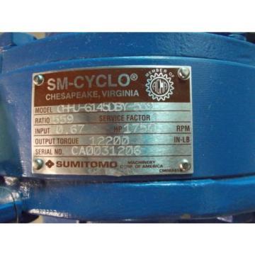 SUMITOMO CHHU-6145DBY-559 RATIO 559:1 SM-CYCLO GEAR REDUCER , NNB