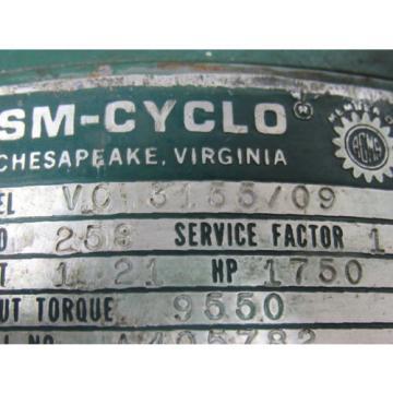 Sumitomo SM-Cyclo VC 3155/09 Inline Gear Reducer 253:1 Ratio 121 Hp