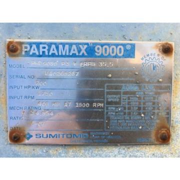Sumitomo Paramax 9000 Gear Box PHD9080 P3 Y LRFB 355 1750 RPM 200HP REFURBISHED