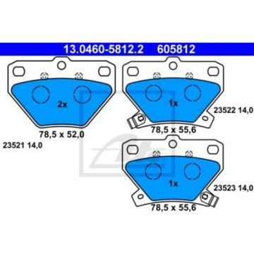 ATE 4x Bremsbeläge Bremsbelagsatz Hinten Toyota