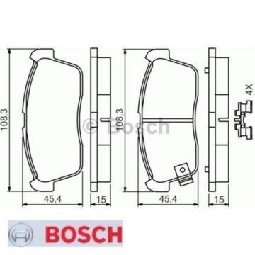 Bremsbelagsatz Bremsbeläge Bremsklötze BOSCH BP408 23507 0986494618