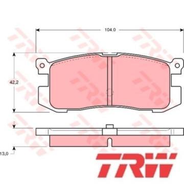 Bremsbelagsatz Bremsbeläge Bremsklötze TRW 21558 GDB1025