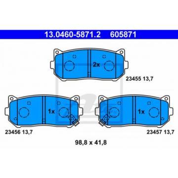 Bremsbelagsatz, Scheibenbremse ATE 130460-58712