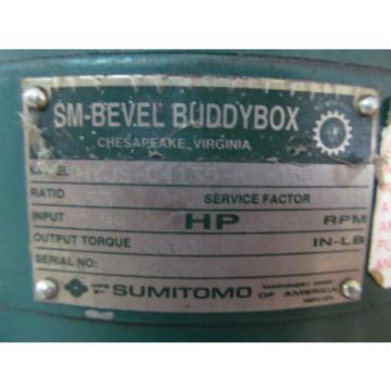 Sumitomo BBB KHYJS-C4135-K1-150 Gear Speed Reducer SM Bevel Buddy Box Gearbox