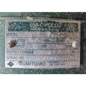 SUMITOMO HS 3115/09 SM-CYCLO 121:1 RATIO SPEED REDUCER GEARBOX Origin