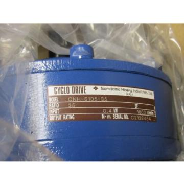 SUMITOMO CYCLO CNH-6105-35 SPEED REDUCER 1800RPM NIB
