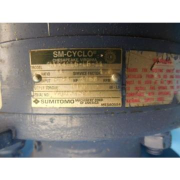 SUMITOMO CNVX 4115 LB 11 SPEED REDUCER INDUSTRIAL MADE IN USA SM CYCLO TOOLING