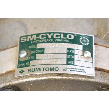 Origin SUMITOMO CNHM024075YA17 SM-CYCLO SPEED REDUCER TYPE TC-F