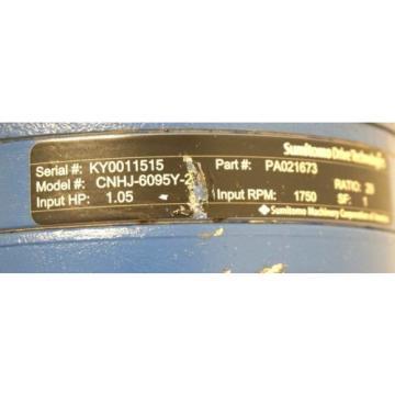 Origin SUMITOMO DRIVE TECHNOLOGIES CNHJ-6095Y-2 INLINE SPEED REDUCER CNHJ6095Y2