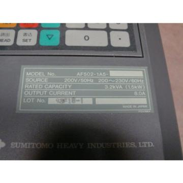 Sumitomo SMAC PAC Trasnsistor Inverter AF502-1A5 VFD Adjustable speed/Ac drive