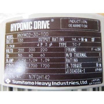 Origin SUMITOMO DRIVE RNYM02-30-100 MOTOR MITSUI BUSSAN RNYM0230100 NIB