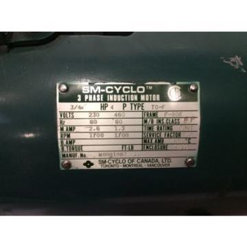 Origin Sumitomo SM-Cyclo 3/4 HP TC-F Induction Motor  230-460VAC 3 Phase F-80s
