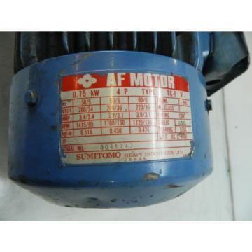 Sumitomo 1 HP Motor, TC-F, Frame# E-90L, 1720 RPM, Used, WARRANTY