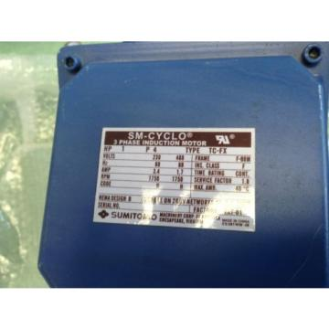 Origin CNHMS1-6095YC-17 Sumitomo Sm-cyclo 6000 1HP Induction Motor TC-FX,ground3