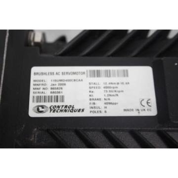 CONTROL TECHNIQUES 115UMD400CBCAA W/SUMITOMO PLANETGEAR PLGE120H-ST 7:1 V11 E02