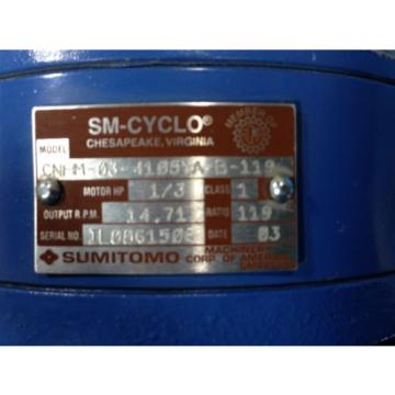 SUMITOMO TC-F/FB-02A INDUCTION MOTOR CNHM-03-4105YA-B-119 SM-CYCLO Origin NO BOX 6H