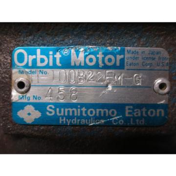 SUMITOMO EATON ORBIT MOTOR H-100B22FM-G