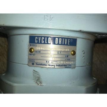 SUMITOMO CYCLO DRIVE, MODEL: CNHM01-5075-N-B-43, RATIO 43, WITH MOTOR, USED