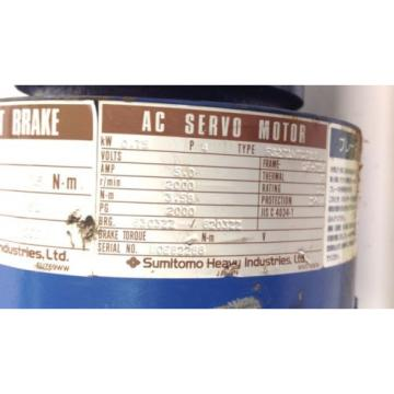 SUMITOMO MAGNETIC BRAKE AC SERVO MOTOR CNVM-6105-SV-B-13