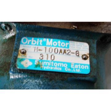 Sumitomo Eaton Hydraulic Orbit Motor, H-100AA2-G, Used,  WARRANTY
