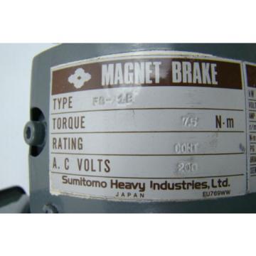 Sumitomo Heavy Industries AC Servo Motor Magnetic Brake 200VAC FS27IMTCT16